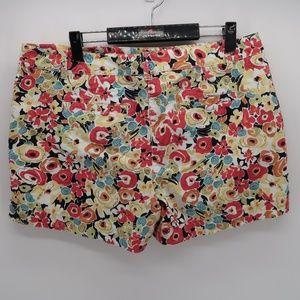 Ann Taylor Shorts - Ann Taylor LOFT Floral Print Casual Chino Short